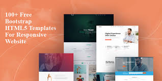 free template designs 100 free bootstrap html5 templates for responsive sites