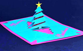 card pop up christmas tree card template templates pop up christmas tree card template medium size
