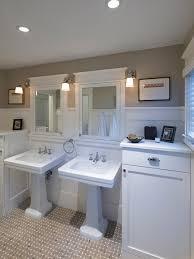 craftsman master bathroom mirrors light fixtures floor tile