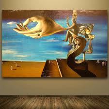 frameless printed painting abstract st petersberg by salvador dali art print wall poster picture room