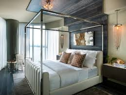 master bedroom with extended gray oak flooring