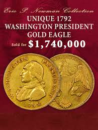 Images 2 home office radio museum collection Crystal The Unique 1792 Washington President Gold Eagle Sold For 1740000 Digital Trends Heritage Auctions Worlds Largest Collectibles Auctioneer