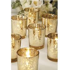 david tutera bridal collection glass votives w gold spot plating