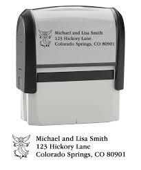 Self-Inking Address Stamper - Angel   Checks Unlimited