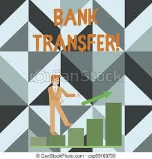Writing Note Showing Bank Transfer Business Photo Showcasing When The Money Is Sent From One Bank Account To Another Smiling Businessman Climbing Bar