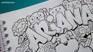 Cool Designs To Draw Your Name How To Draw Your Name In Doodle Ariana Graffiti Sketch
