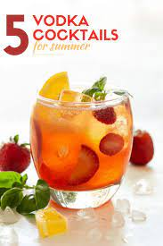 Seeking the summer vodka drinks for a crowd? Add Some New Flavor To Your Summer Happy Hour With This List Of 5 Refreshing Summer Vodka Cockt Vodka Cocktails Refreshing Vodka Cocktails Strawberry Cocktails