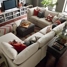 U Shaped Couch Living Room Furniture Beckham U Shaped Sectional Ottomans Tables And The Shape