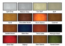 Concrete Sealer Color Chart Tint Concrete Ashiyarc Co