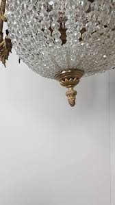 19th century french empire gilded bronze and crystals chandelier for at 1stdibs
