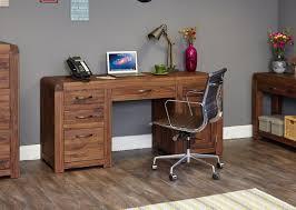 solid walnut hidden home office. Shiro Walnut Twin Pedestal Computer Desk Solid Hidden Home Office F