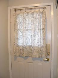 window treatments for doors with half glass curtains images treatment front door