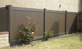 vinyl fence colors. Privacy Woodland Select Colors Chestnut Brown Vinyl Fence
