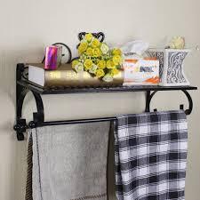wrought iron bathroom shelf. Spectacular Wrought Iron Shelves Wall Mounted Of Towel Rack Bar Bathroom Shelf Mount Photo