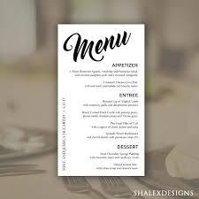 Wedding Dinner Menu Template Danielmelo Info