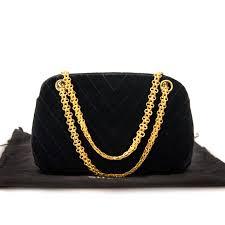 chanel vintage bag. koop veilig online jou tweedehands rare chanel vintage 60s mademoiselle quilted velvet bag