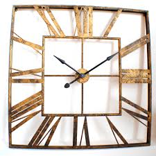 large office wall clocks. Round Gold Coated Metal Large Wall Office Clocks