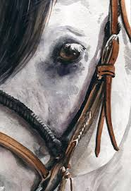 cowboy painting horse head by nadi spencer