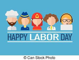 labor day theme international worker day or labor day theme set of icons eps