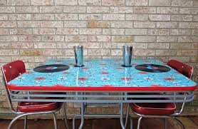 how to refinish a dining table with fabric mod podge and resin