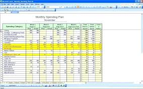 Excel Budget Spreadsheet Templates Personal Monthly Budget Worksheet