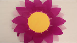 How To Make Big Lotus Flower From Paper Beautiful Beautiful Sunflower Template Sketch Example Resume And