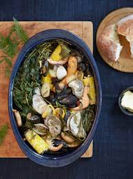 Use cedar to flavour a seafood bake ...