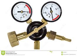 gas manometer. gas pressure regulator with manometer, isolated clipping pa stock image manometer l