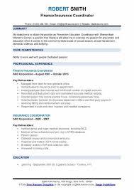 Care Coordinator Cover Letter Insurance Coordinator Resume Samples Qwikresume