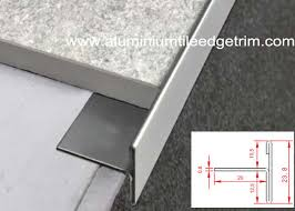 t shaped stainless steel tile trim edging natural color for floor tile end