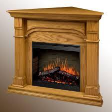 dimplex oxford electric fireplace corner setup oak finish