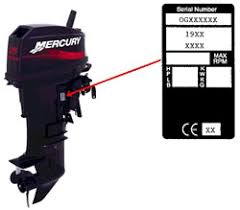 mercury outboard parts by year model number mercury outboard serial number guide