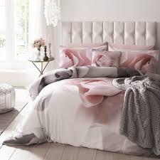 duvet cover superking pink grey white print zoom