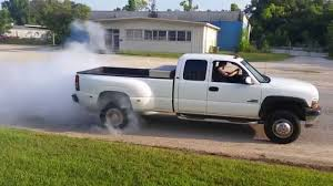 Duramax Dually Burnout - YouTube