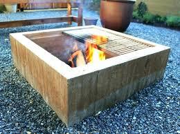 modren cement cement fire pit pits concrete block diy for r