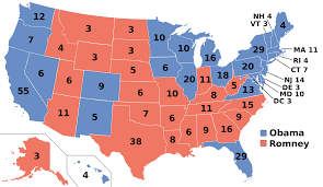 how to go from nominee to president the electoral college a map of the electoral college delegates by state photo commons