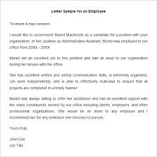 job recommendation letter samples 18 employee recommendation letter templates hr template free