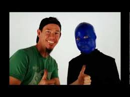 shon and riley time lapse the blue man group makeup costume