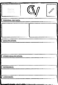 Microsoft Excel Resume Templates Cv Template Blank Free In Pdf