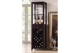 modern wine rack furniture. baxton studio austin brown wood modern wine tower bsrt190 rack furniture