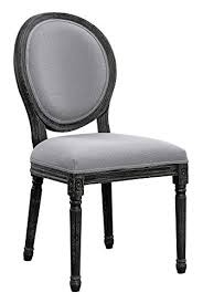 oval back dining room chairs grey and black with wire brushed set of 2