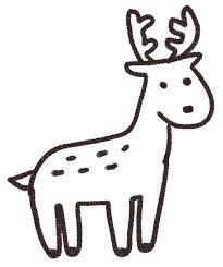 鹿のイラスト動物 ゆるかわいい無料イラスト素材集