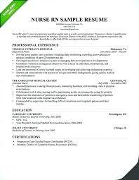 Example Of Rn Resume New Graduate Nurse Resume Template Radtourism Co