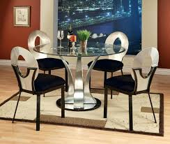 round glass dining table set for 4 alluring dining room sets glass top round dining table
