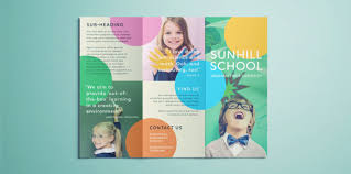 Education Brochure Templates Colorful School Brochure Tri Fold Template Download Free