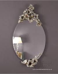 srove frameless decorated silver oval mirror inside mirrors bathroom plans 19