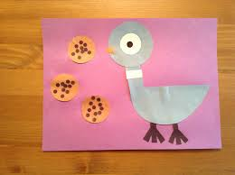 Small Picture Pigeon craft from The Duckling Gets a Cookie by Mo Willems