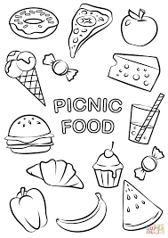 Small Picture Picnic Food coloring page Free Printable Coloring Pages