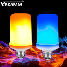 Flickering Fire Light Bulb Us 4 93 21 Off Vacamm 2018 New E27 Led Blue Flame Effect Fire Light Bulb 2835smd Flickering Emulation Gravity Sensor Flame Lights Vintage Decor In
