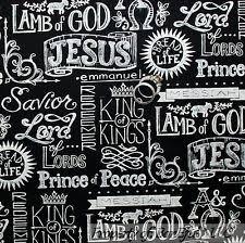 Religious Fabric | eBay & BonEful Fabric FQ Cotton Quilt B&W Faith Religious Word God Jesus Lord  Christian Adamdwight.com
